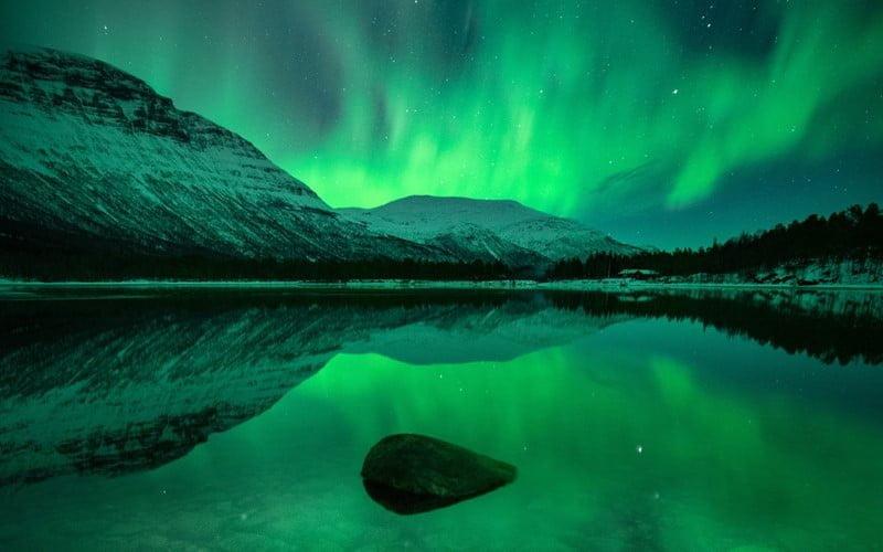 ظاهرة الشفق القطبي في النرويج