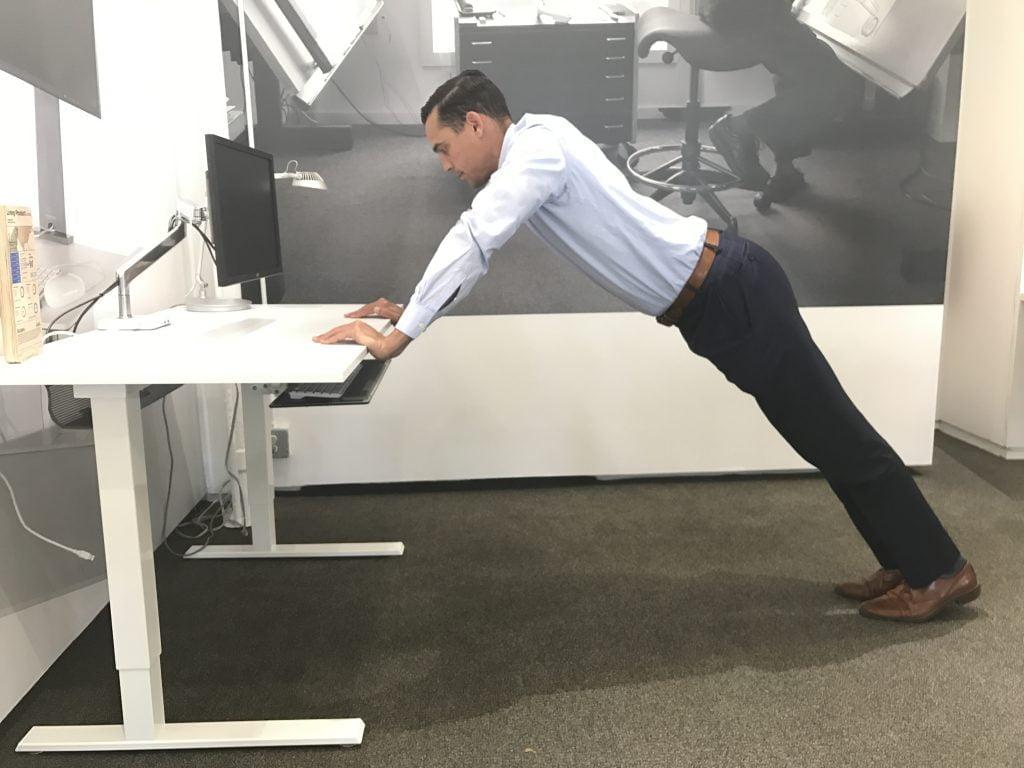 تمرين البلانك المكتبي